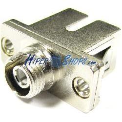Acoplador de fibra óptica SC a FC monomodo simplex