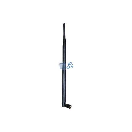 Antena Wi-Fi omnidireccional compacta rSMA de 2.4 GHz y 8 dBi
