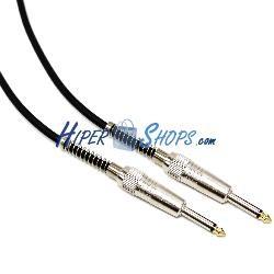 Cable audio micrófono instrumento mono jack 6.3mm macho a macho de 5m