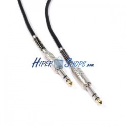 Cable audio micrófono instrumento estéreo TRS jack 6.3mm macho a macho de 5m