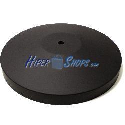 Base negra de 320mm para poste de cinta retraible extensible