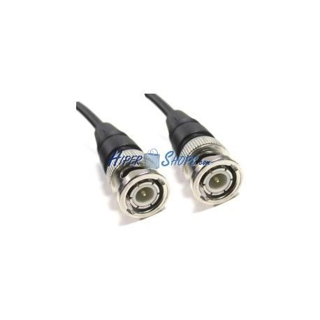 Cable coaxial RG59 BNC macho a BNC macho de 1m