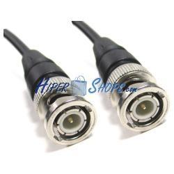 Cable coaxial RG59 BNC macho a BNC macho de 2m