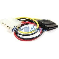 Cable Alimentación MOLEX 4P-M (5.25) a 15P-H (SATA)
