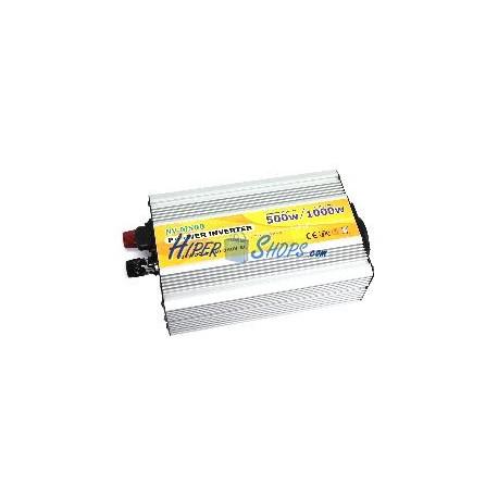 Inversor eléctrico onda modificada 24V a 220V de 500W USB