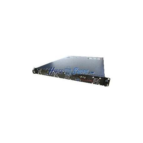Caja rack19 IPC ATX 1U F605mm 4x3.5 para 2 Atom Mini-ITX RackMatic