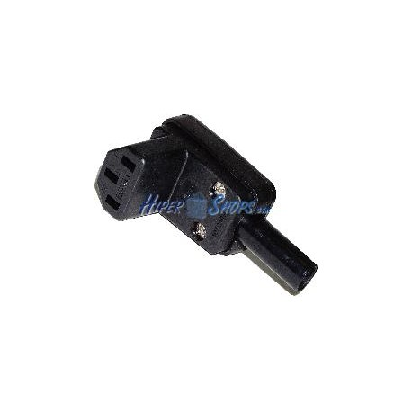 Clavija IEC-60320 C13 (Angulo Hembra Negro)