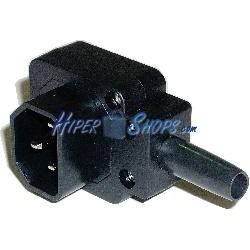 Clavija IEC-60320 C14 (Angulo Macho Negro)