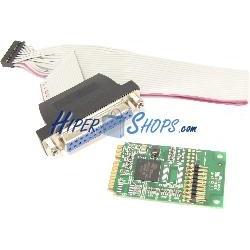 Adaptador Mini PCIe a 1 puerto paralelo