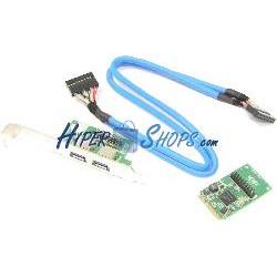 Adaptador Mini PCIe a 2 puerto USB 3.0