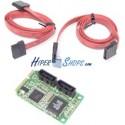 Adaptador Mini PCIe a 2 puerto SATA2 acodado