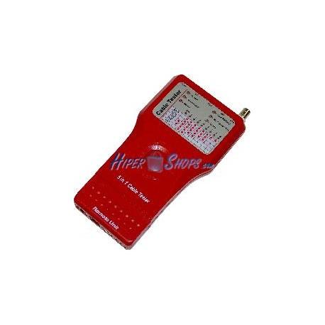 5-in-1 Cable Tester (RJ45 + RJ11 + 1394 + USB + BNC)