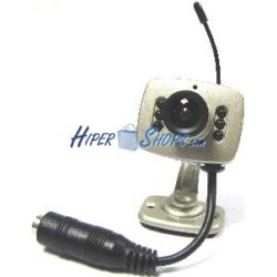 Cámara de vídeo inalámbrica RF 2,4 GHz con peana y audio