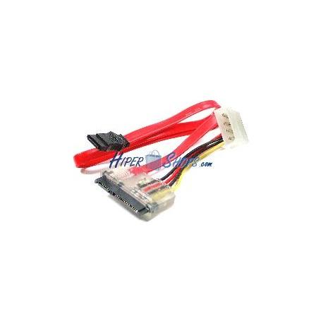 Cable MicroSATA a SATA POWER 7P9P-M 7P4P-H de 30cm 3.3V/5.0V