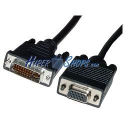Cable DVI-I macho a VGA hembra de 5 m