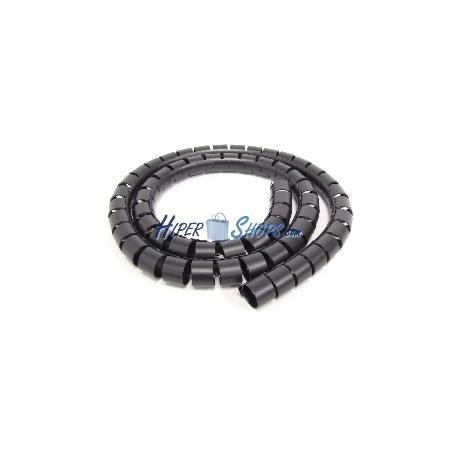 Cubre cables negro de 15mm. Bobina de 2.5m