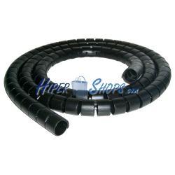 Organizador de cables espiral blanco 6mm 10m
