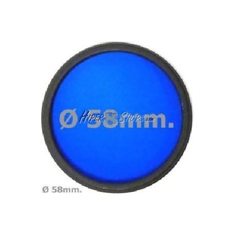 Filtro fotografia azul para objetivo de 58 mm