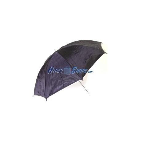 Paraguas reflector plateado con base blanca traslúcida de 104 cm