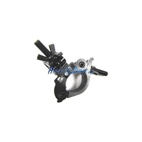 Fijación tubular de 35mm con dos soportes para focos de estudio fotográfico
