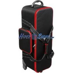 Bolsa de transporte para material fotográfico 77x26x27cm con carrito