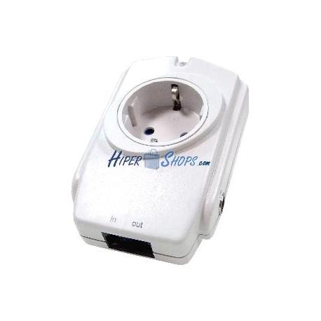 Enchufe Protector Sobrecargas con Filtro EMI/RFI TV+RJ11 (250V/16A)