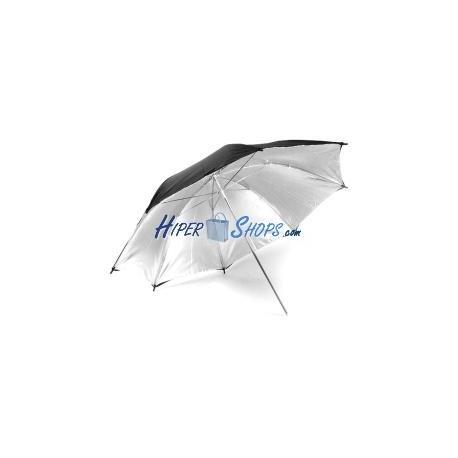 Paraguas reflector plateado de 95 cm