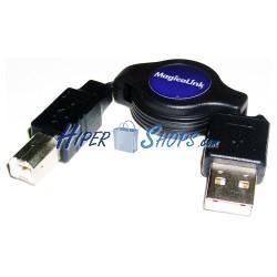 Cable USB retráctil de 80cm (AM/BM)