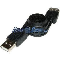 Cable USB retráctil de 80 cm (AM/AH)