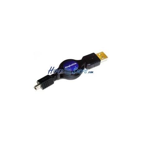 Cable USB retráctil de 120 cm (AM/MiniUSB4PinM) Mitsumi