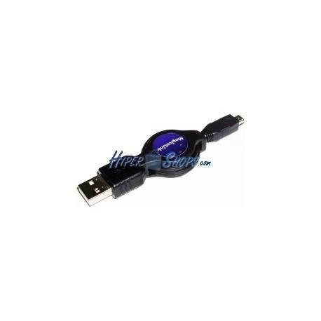 Cable USB retráctil de 120 cm (AM/MiniUSB4PinM) Hirose