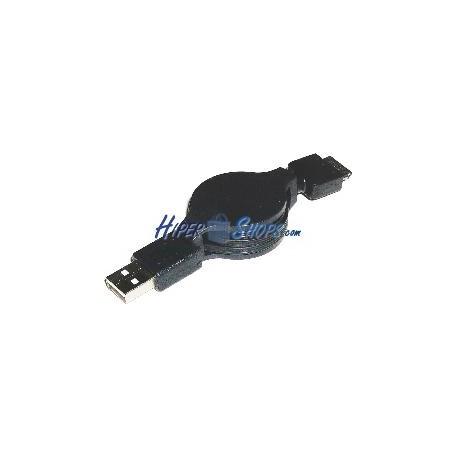 Cable Retráctil USB 2.0 a Canon 120cm (AM/Canon12P)