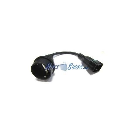 Cable Alimentación IEC-60320-C20 a schuko-hembra de 30cm
