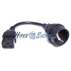 Cable Alimentación IEC-60320 0.1m (C19 / SCHUKO-H)