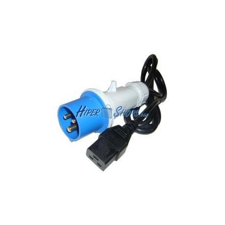 Cable Alimentación IEC-60309 CETAC 1.8m (IEC-60309-M / IEC-60320-C19)