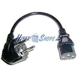 Cable Alimentación IEC-60320 0.2m (C13 / SCHUKO-M)