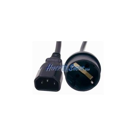 Cable de alimentación IEC-60320 40cm C14 a schuko hembra
