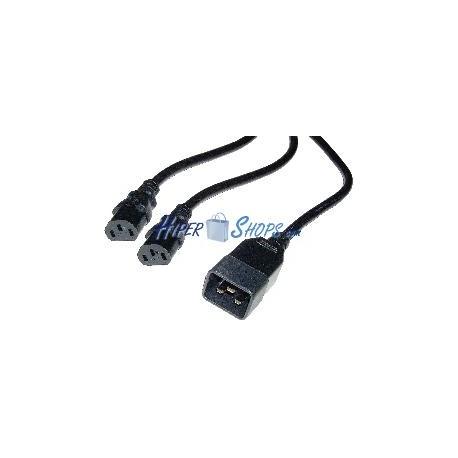 Cable Alimentación IEC-60320 1.8m (2xC13 / 1xC20)