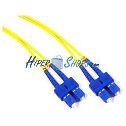 Cable de fibra óptica SC a SC monomodo duplex 9/125 de 20 m