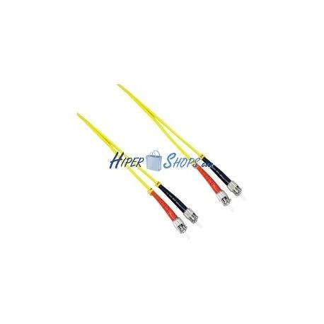 Cable de fibra óptica ST a ST monomodo duplex 9/125 de 15 m
